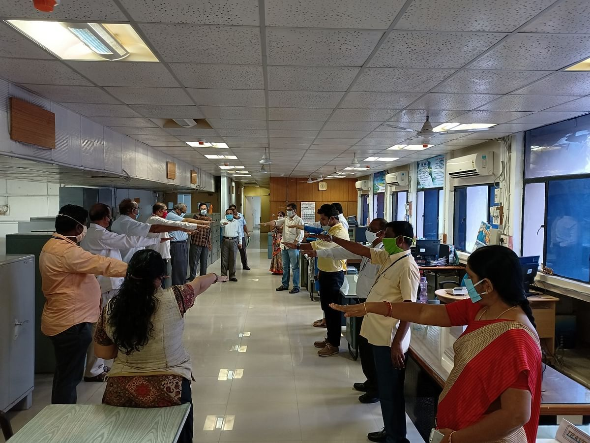 NTPC-Ramagundam employees take pledge for 'Jan Andolan Campaign on Covid-19'