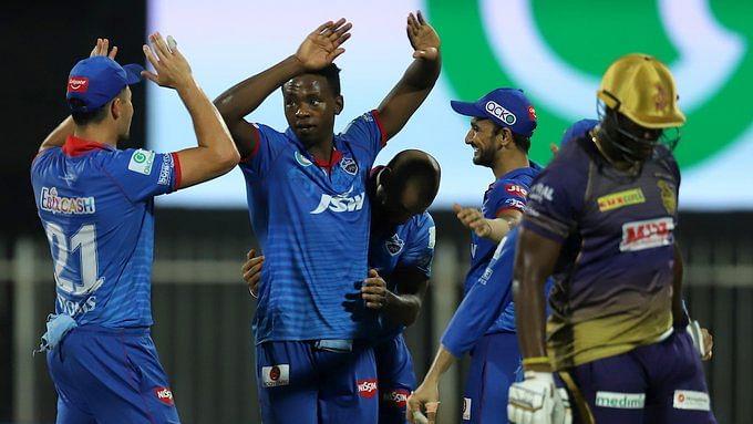 Delhi Capitals celebrate their victory over Kolkata Knight Riders