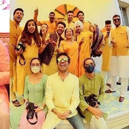 In Pics: Naha Kakkar, Rohanpreet Singh kick start pre-wedding festivities with Haldi and Mehendi ceremonies