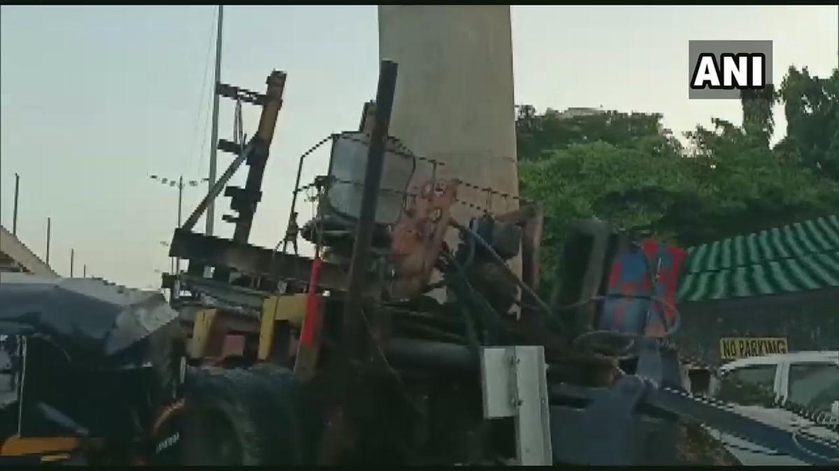 One dead, two injured as crane collides with metro pillar in Mumbai