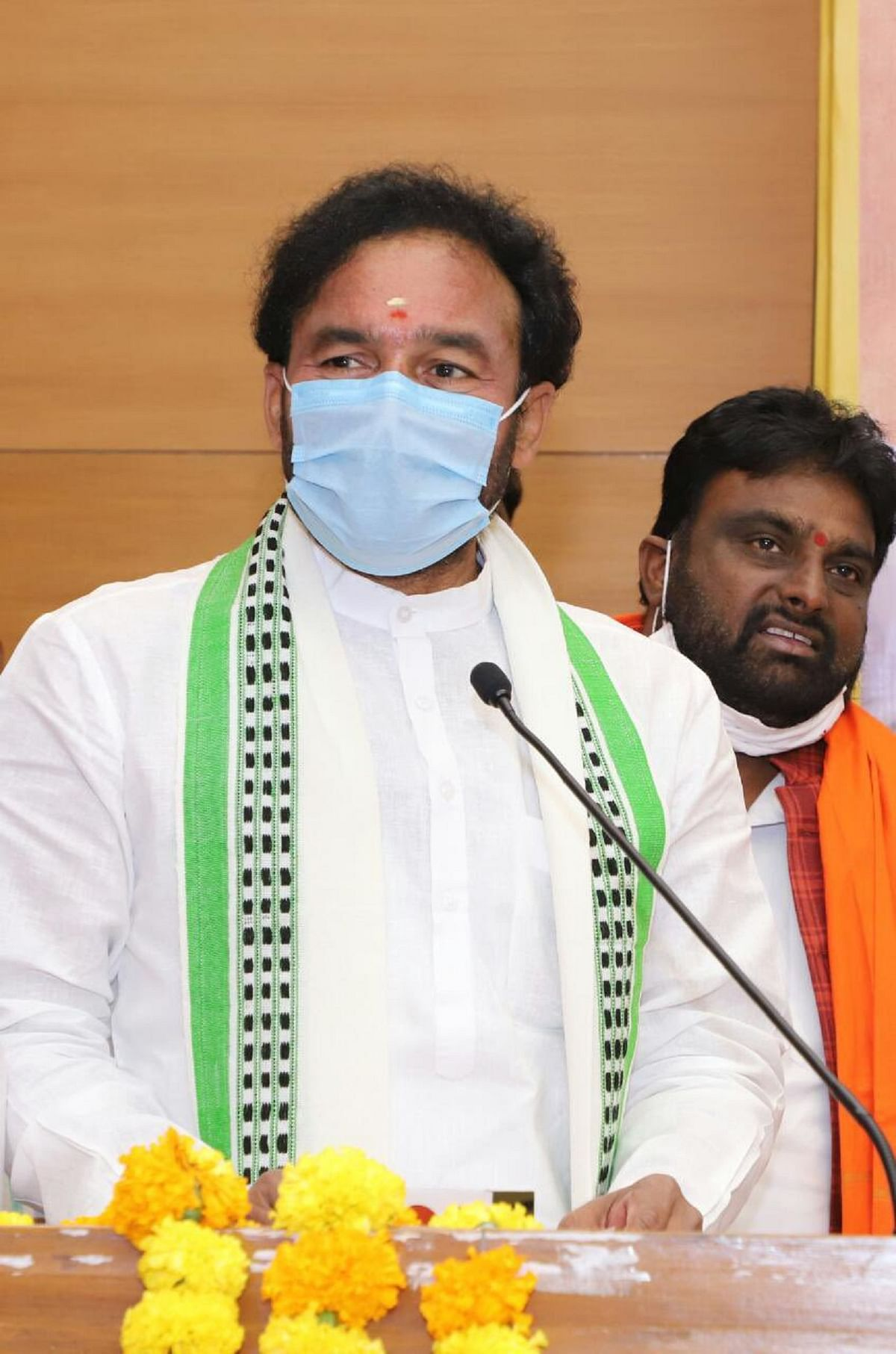G Kishan Reddy inaugurates BJP's new office in Andhra Pradesh after offering prayers at temple in Vijayawada