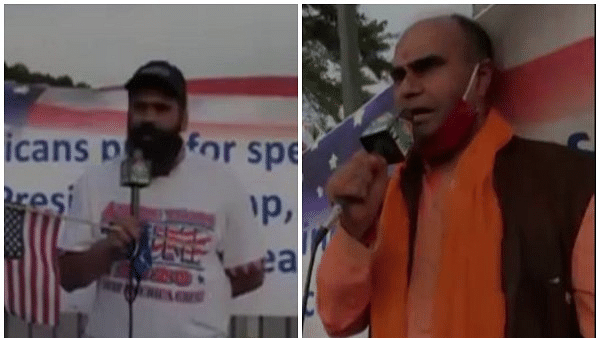 Indian American Trump supporters gather outside hospital to pray for his recovery