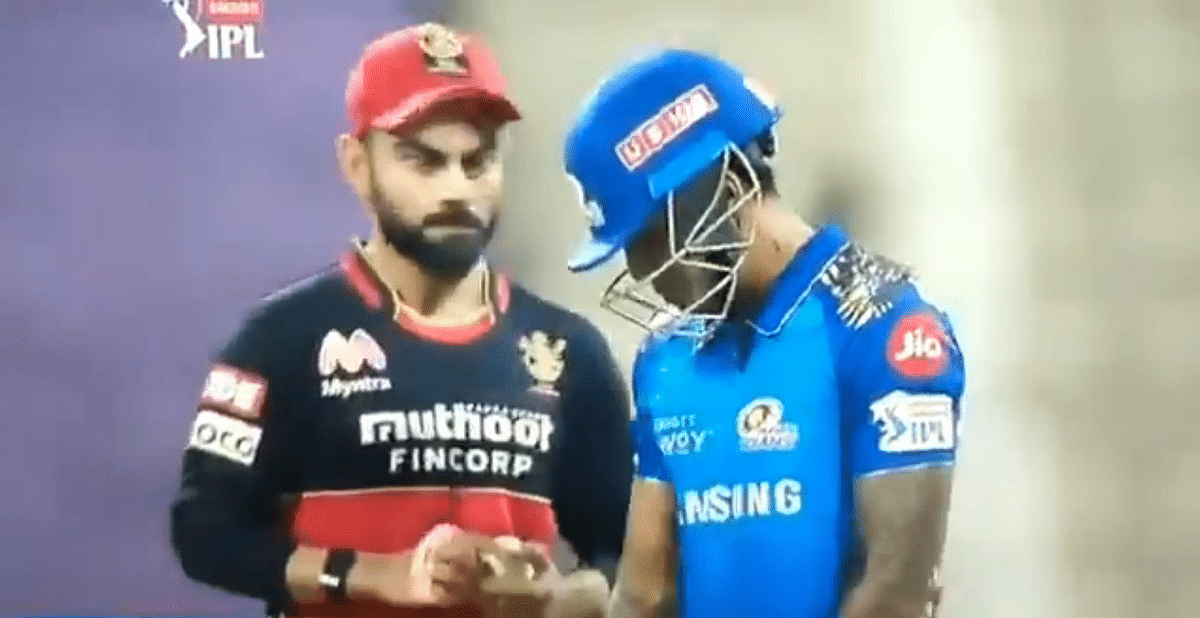 IPL 2020: Virat Kohli's exchange with Suryakumar Yadav amid MI vs RCB match has Twitter incensed