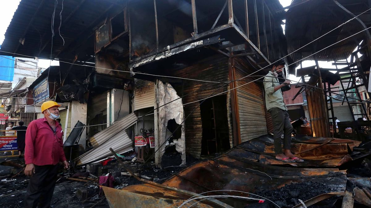 Bhopal: Fire breaks out at New Market, 14 shops gutted