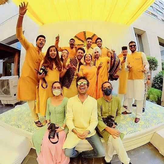 In Pics: Naha Kakkar, Rohanpreet Singh kick start pre-wedding festivities with Haldi and Mehendi ceremonies