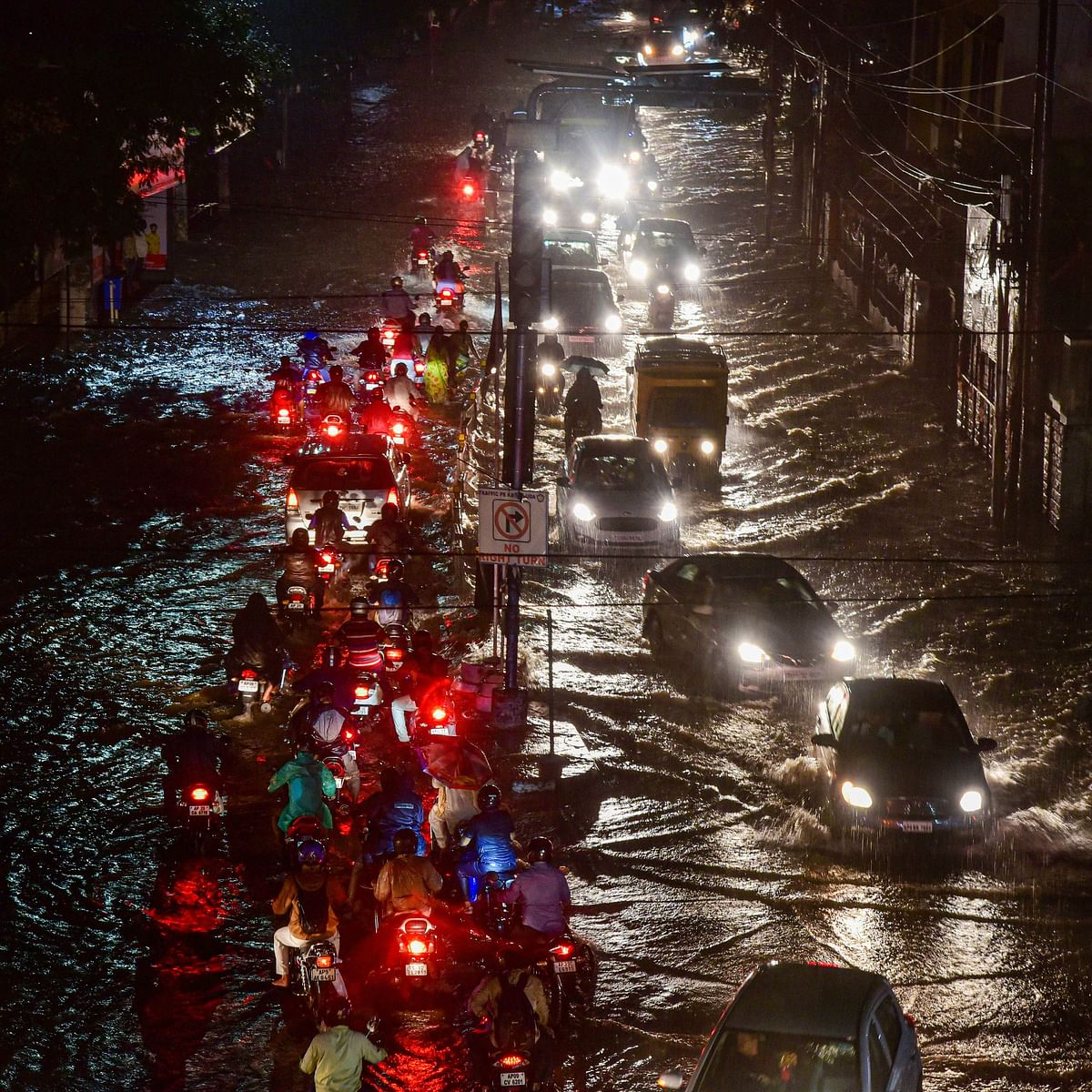 Days after deluge, heavy downpour brings another bout of flash floods to Hyderabad