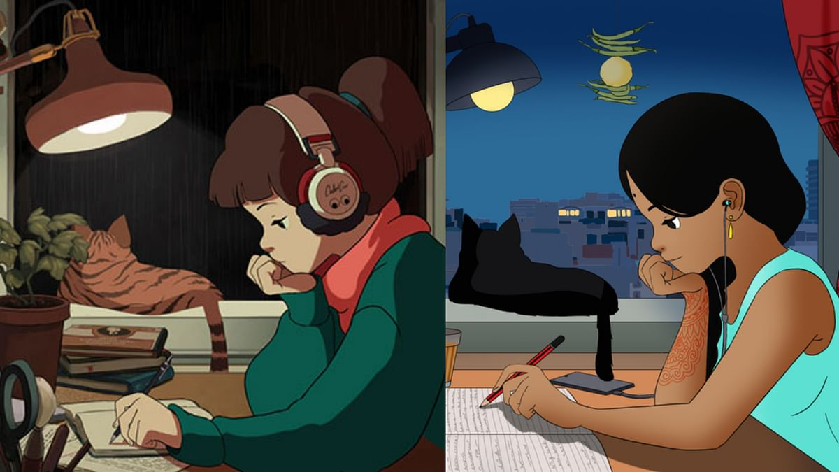 YouTube's lo-fi hip-hop radio turns desi as 'anime study girl' gets Indian look