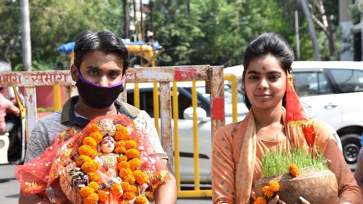 Bhopal: Homemade eco-friendly idol of deity draws devotees