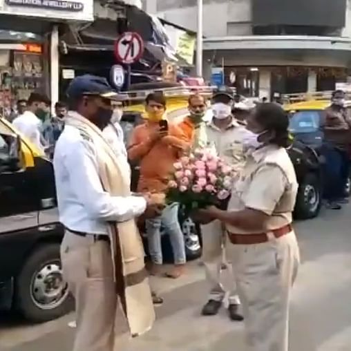 Mumbai traffic constable Eknath Parthe, assaulted by woman, felicitated for keeping his cool