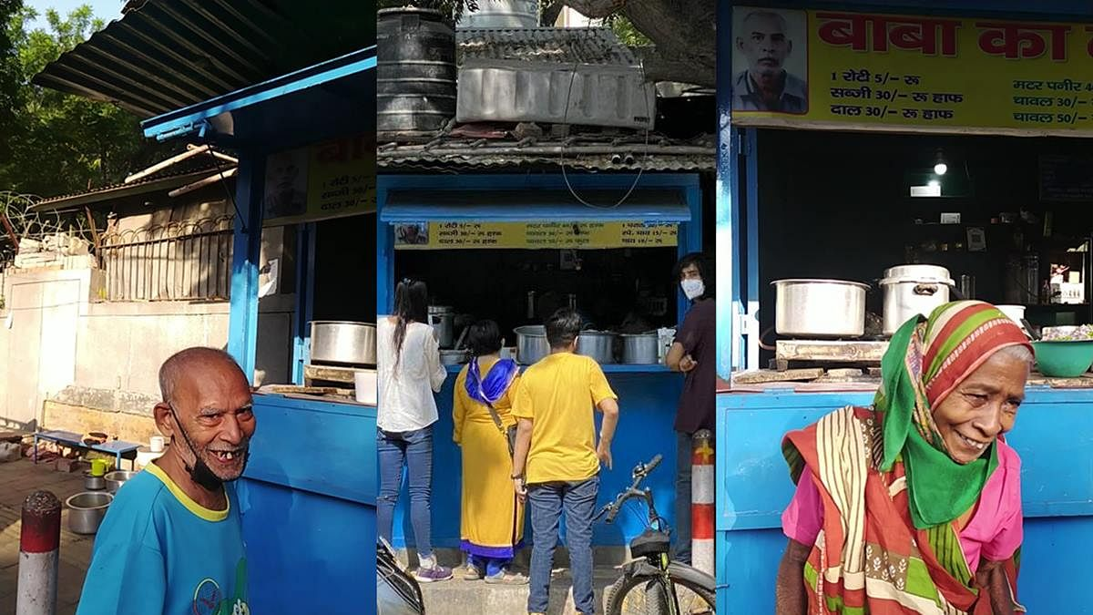 Vocal for local: After a clarion call on Twitter, foodies turn up to save Delhi's 'Baba Ka Dhaba'