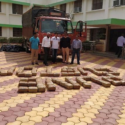 Pune Customs recovers 412kg of marijuana from abandoned truck on Naldurg-Solapur road