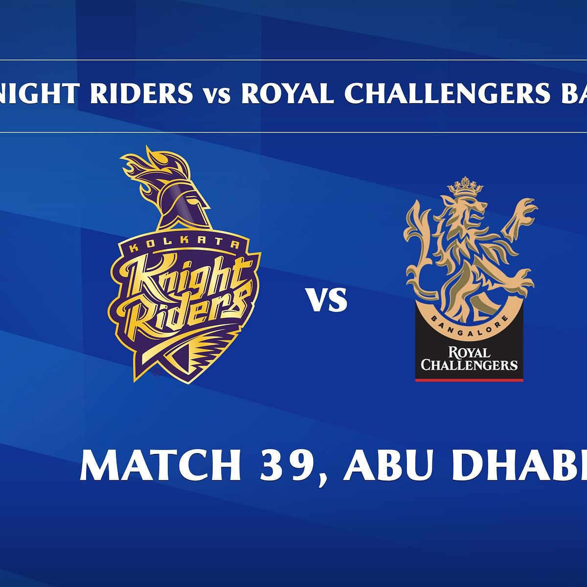 Kolkata Knight Riders vs Royal Challengers Bangalore LIVE: Score, commentary for the 39th match of Dream11 IPL