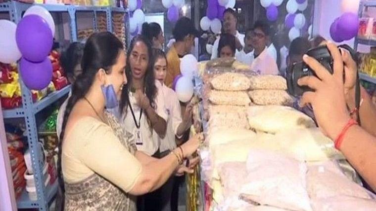 Supermarket run by acid attack survivors opens in Mumbai's Bandra