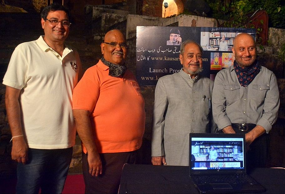 Bhopal: Actor Anupam Kher launches website with Urdu author Kauser Siddiqui's works