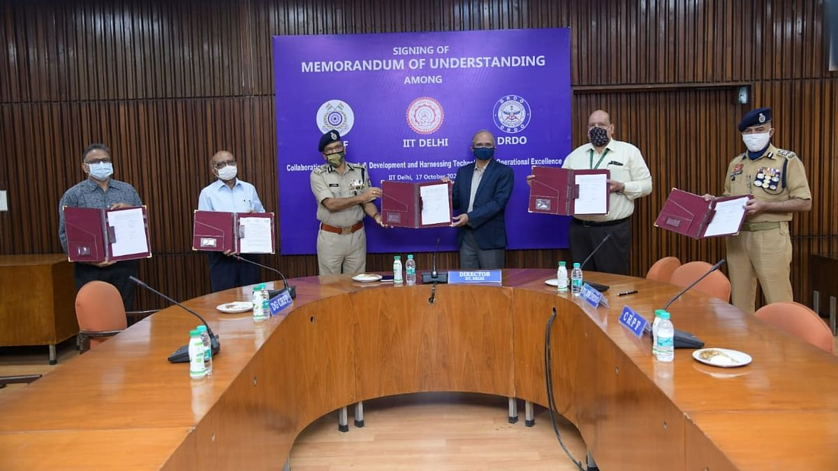 Central Reserve Police Force collaborates with Indian Institute of Technology Delhi, Defence Research and Development Organisation, and JATC to augment its R&D capabilities