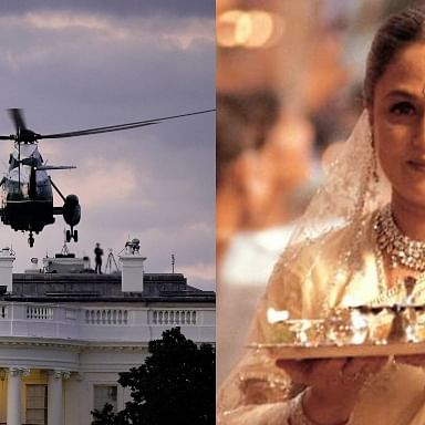 Watch: Trump's return to the White House post-COVID-19 reminds Desi Twitter of Shah Rukh Khan's 'K3G' entry