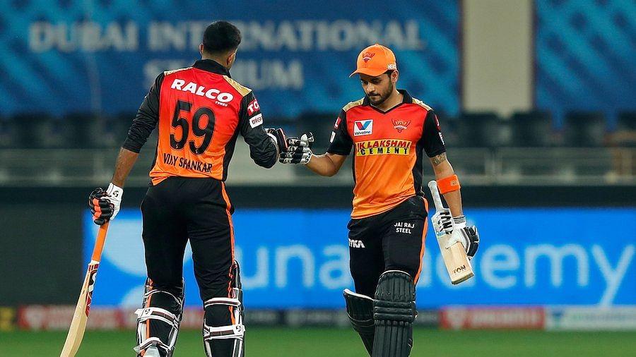 IPL 2020: Manish Pandey, Vijay Shankar propel SRH to easy eight-wicket win over RR