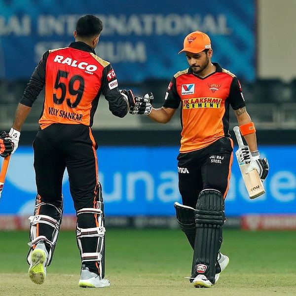 IPL 2020: Manish Pandey, Vijay Shankar propel SRH to easy eight-wicket win over RR