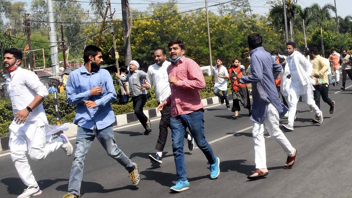 Bhopal: Youth Congress rally cane-charged on way to CM House