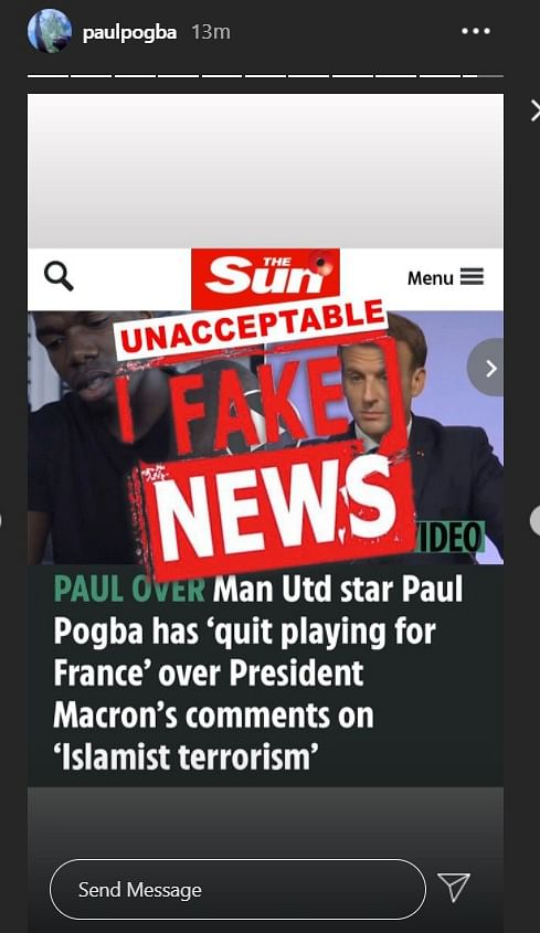 Paul Pogba slams The Sun for claiming he 'retired' from international football, promises legal action
