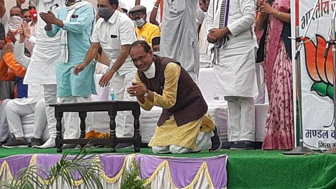 Madhya Pradesh: Kamal Nath's stance on Shivraj kneeling down, says if the public interest is paramount for the leaders, they do not need to kneel