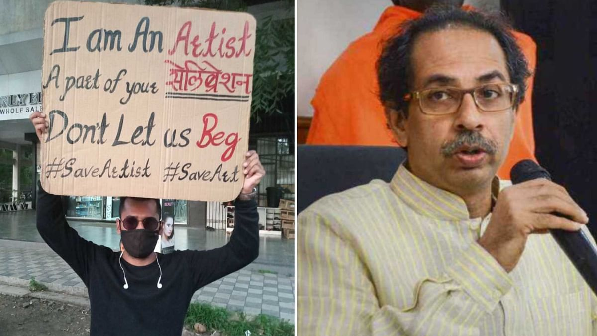 'Don't let us beg': Aurangabad musician stands with placard for 12 hours to draw attention of Maha govt
