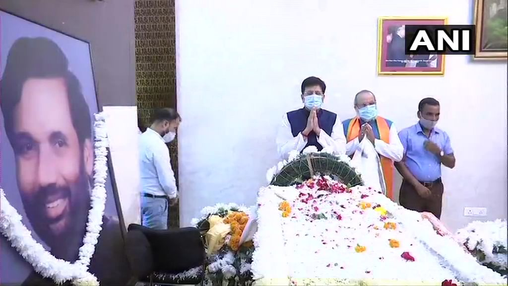 Live updates: Union Minister Piyush Goyal pays last respects to Ram Vilas Paswan