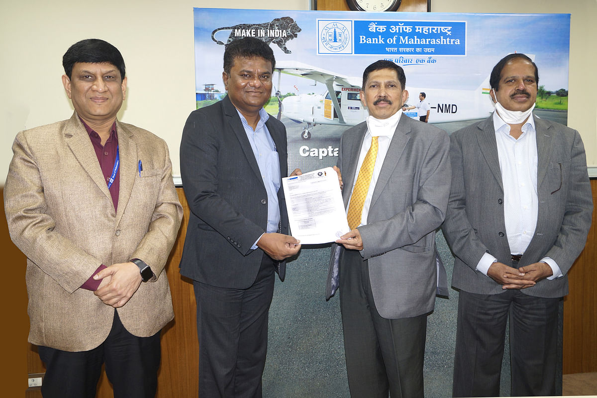 Bank of Maharashtra to finance Thrust Aircraft Pvt. Ltd. of Captain Amol Yadav