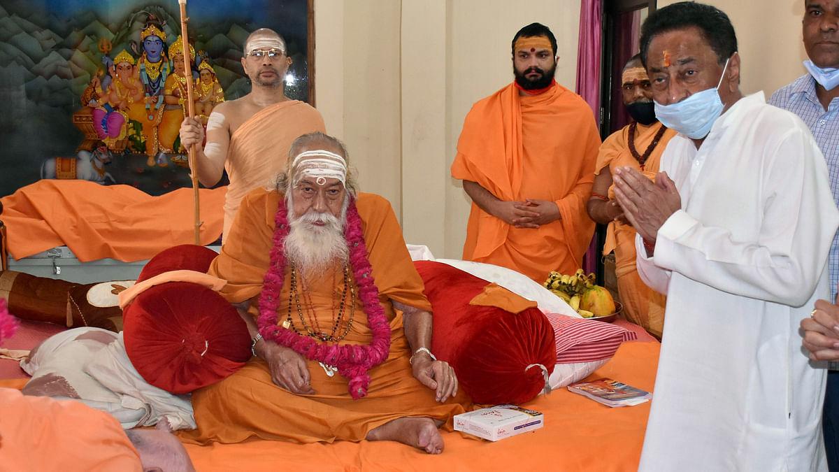 Madhya Pradesh Pradesh Congress President Kamal Nath to seek blessings of Shankaracharya Swami Swaroopanand Saraswati at Baglamukhi temple in Jabalpur on Sunday.