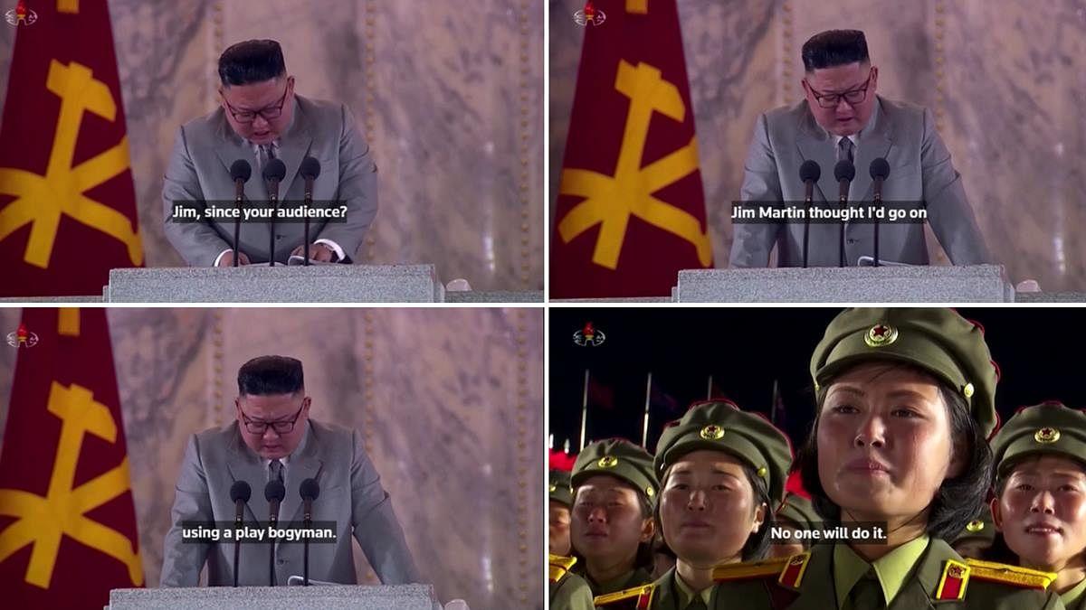 Jim Martin, bogyman: Bizarre auto-generated subtitles of Kim Jong-un's emotional speech will make you go ROFL