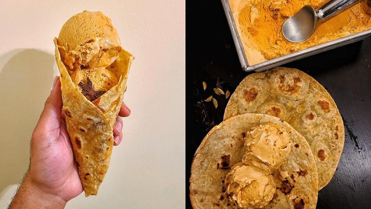 Spiced tea ice cream in a paratha cone leaves Twitter impressed and disgusted