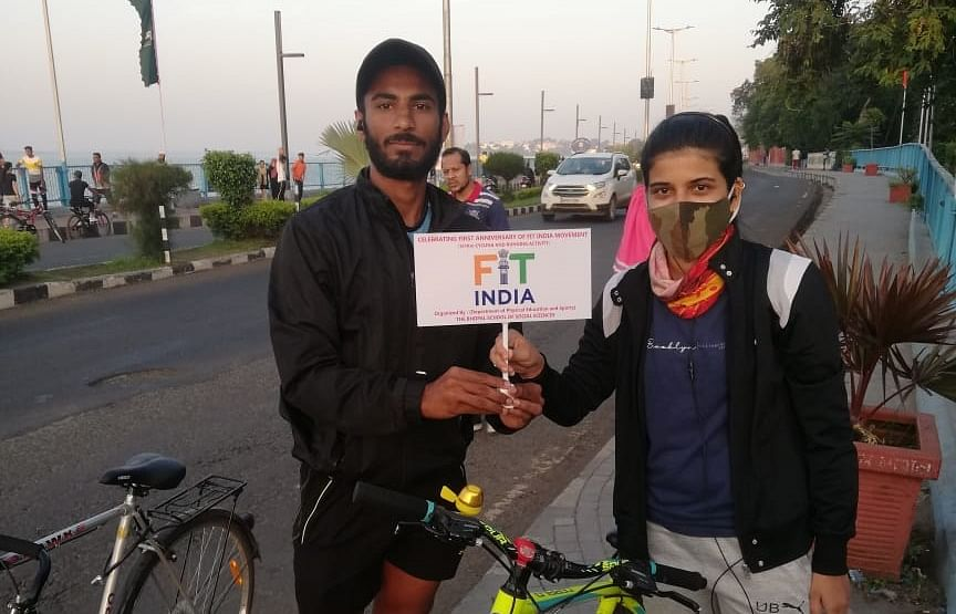 Bhopal School of Social Sciences organises 'running and cycling' event to mark the first anniversary of Fit India Movement