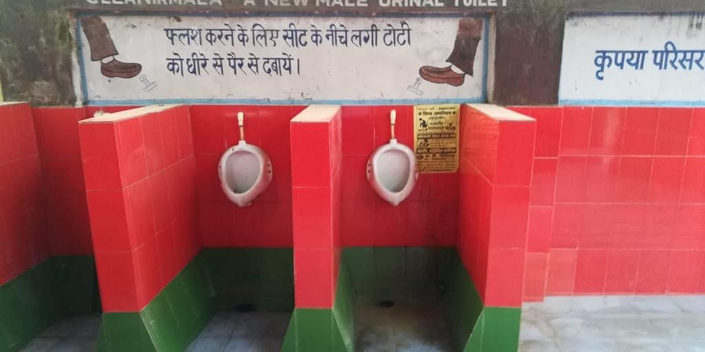 Samajwadi Party fumes over Gorakhpur railway station toilets in party colours