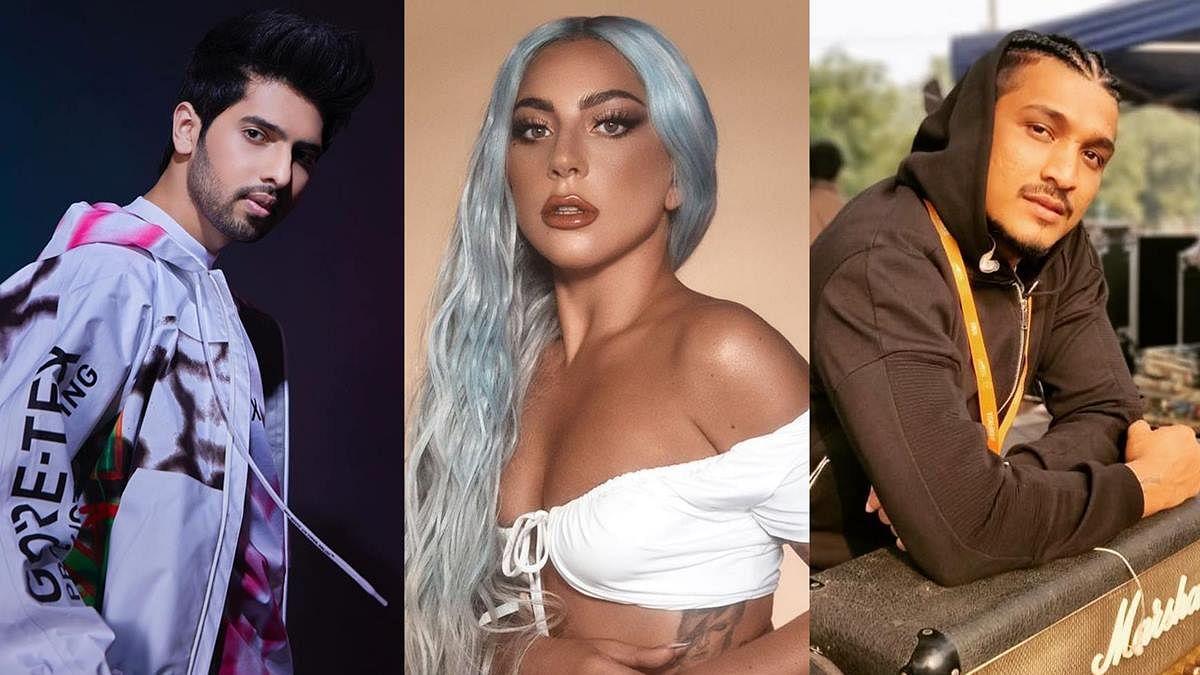 L to R - Armaan Malik, Lady Gaga, DIVINE