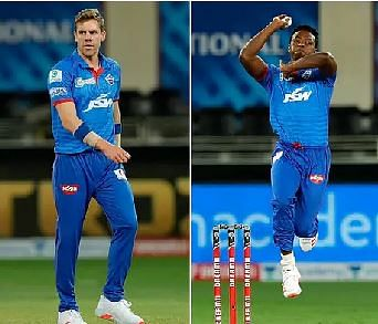 Nortje (L) and Rabada