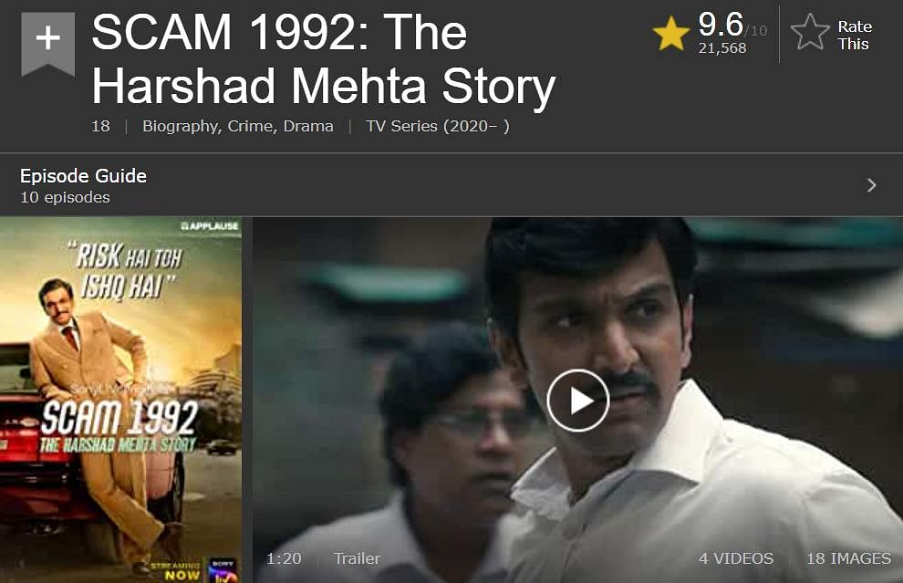 'Scam 1992: The Harshad Mehta Story' surpasses 'Breaking Bad', 'Game of Thrones' as top-rated show on IMDb