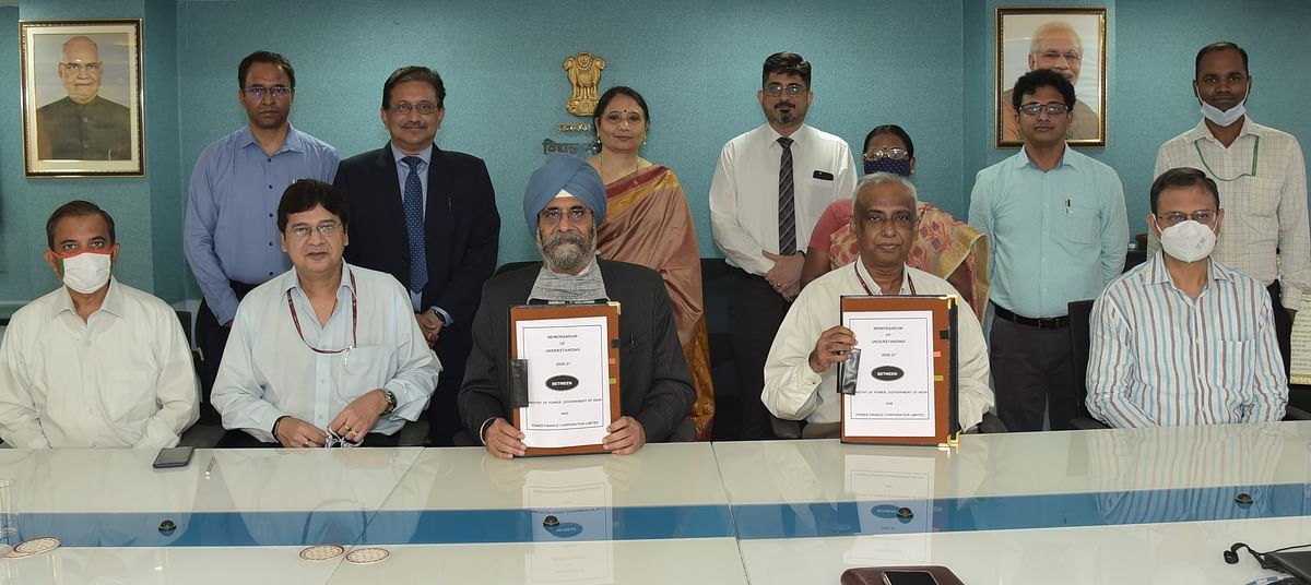 Power Finance Corporation signs Memorandum of Understanding with the Government of India detailing targets for FY 2020-21