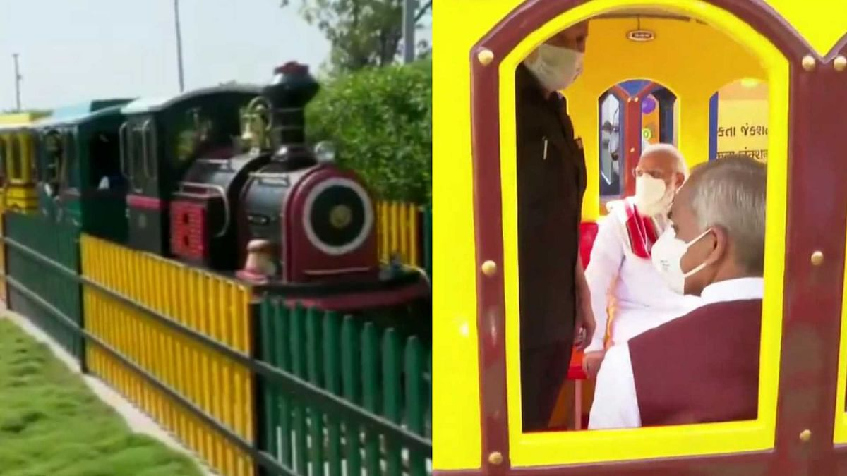 Watch: PM Modi rides in 'Nutri Train' at 'Arogya Van' in Gujarat