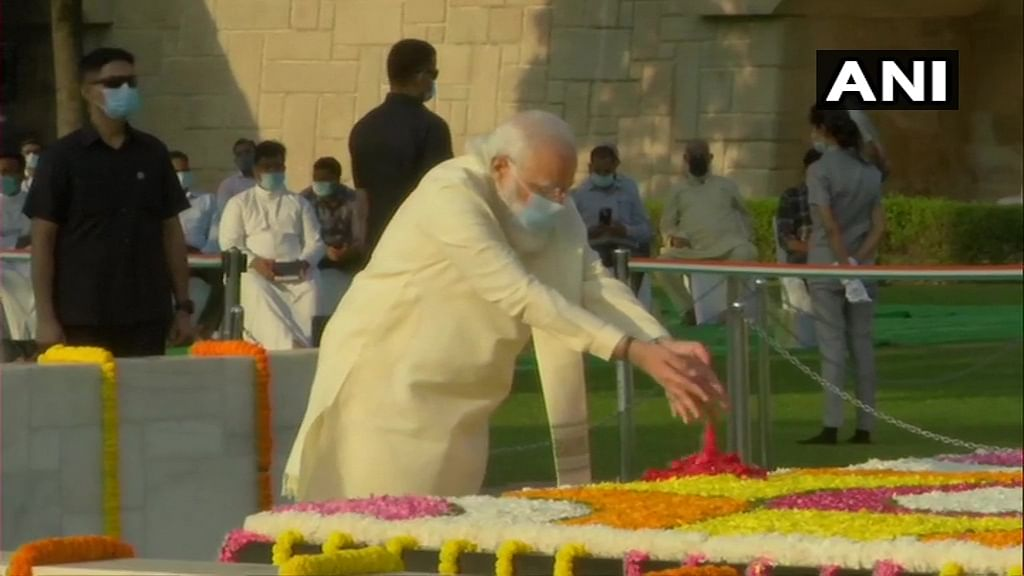 Watch: PM Modi pays tribute to Mahatma Gandhi at Raj Ghat on his 151st birth anniversary