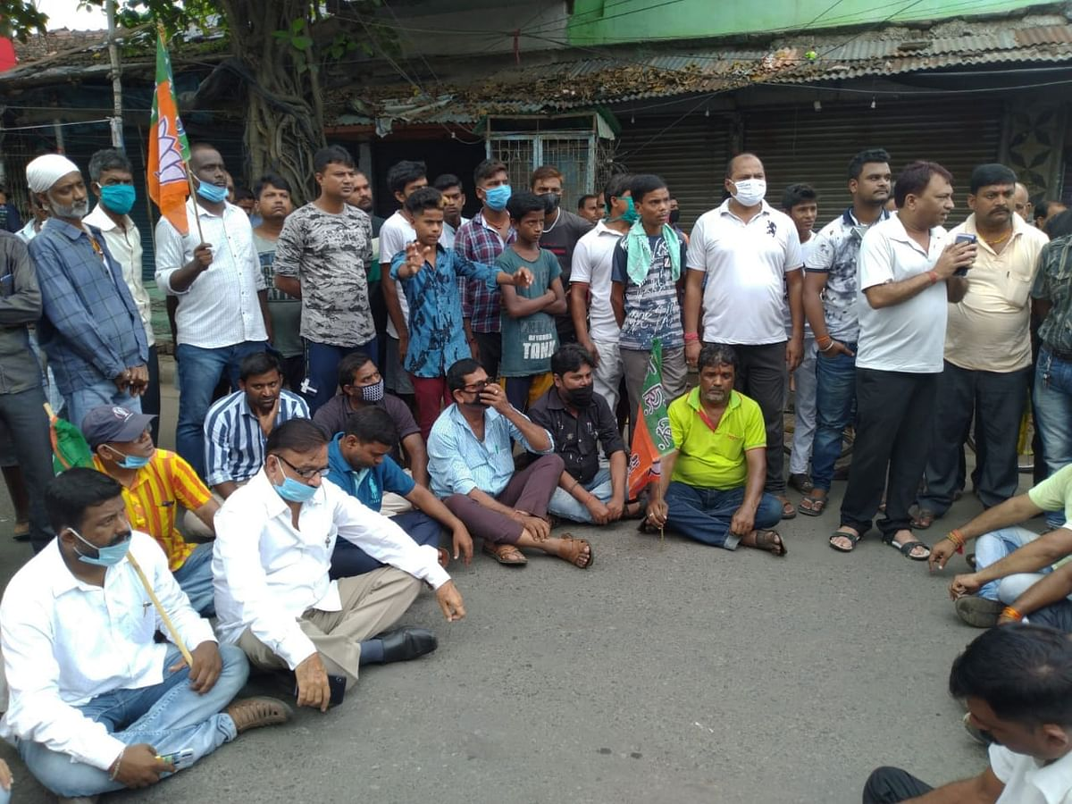 Protests against the killing of BJP  councillor Manish Shukla in Barrackpore