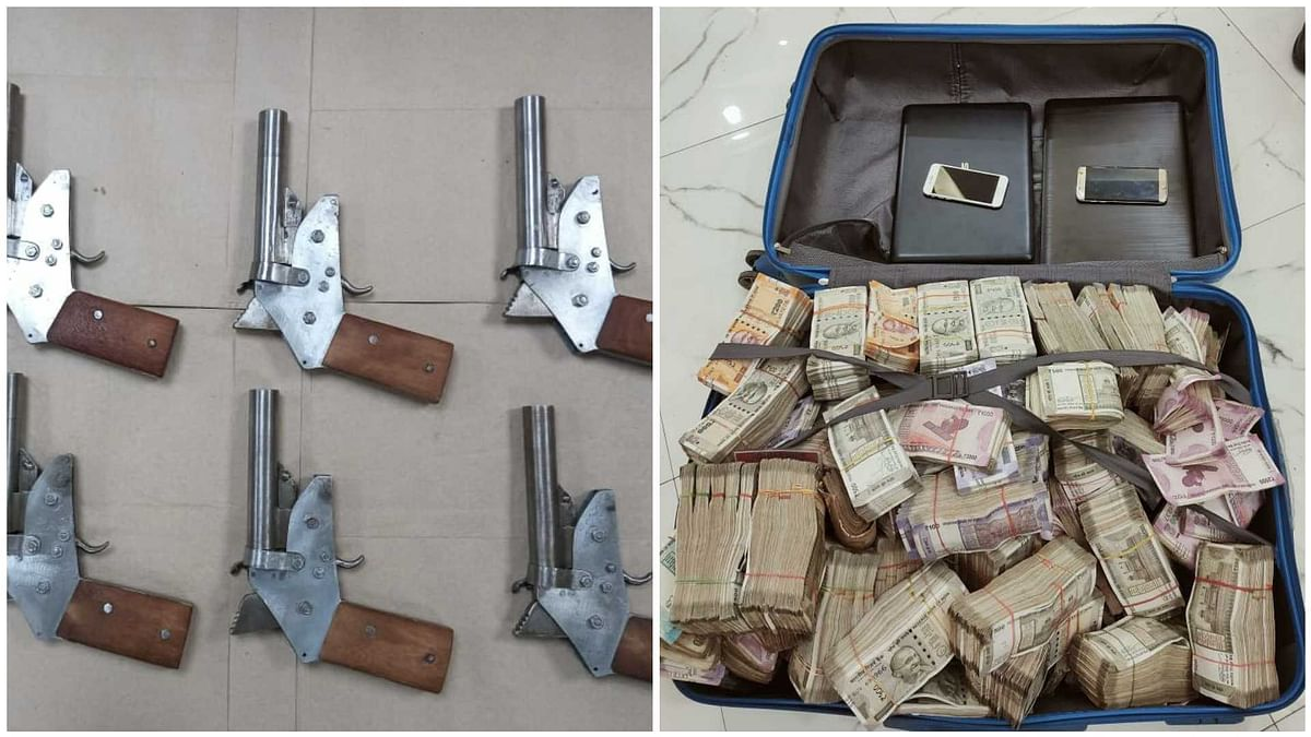 West Bengal: 1.6 crore cash, 8 illegal firearms seized by STF in separate raids in Kolkata