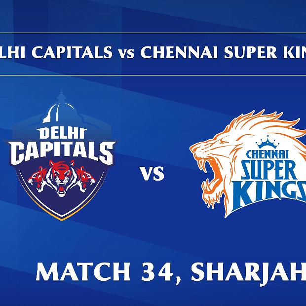 Delhi Capitals vs Chennai Super Kings LIVE: Score, commentary for the 34th match of Dream11 IPL