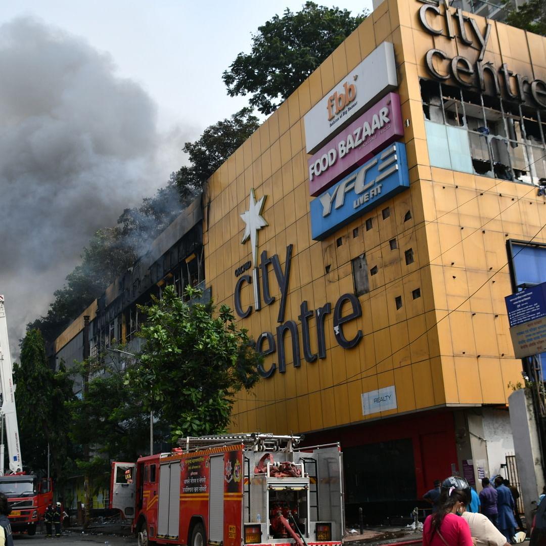 Blaze at city mall; 300 evacuated