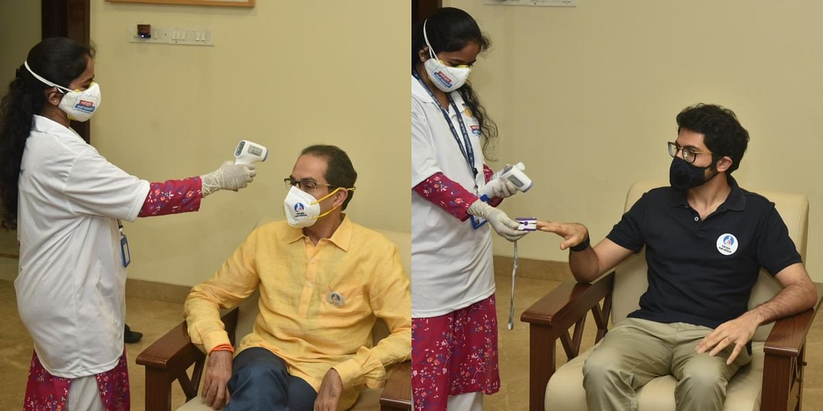 Mumbai: BMC officials conduct health check-up of CM Uddhav Thackeray and family under 'My Family My Responsibility' campaign