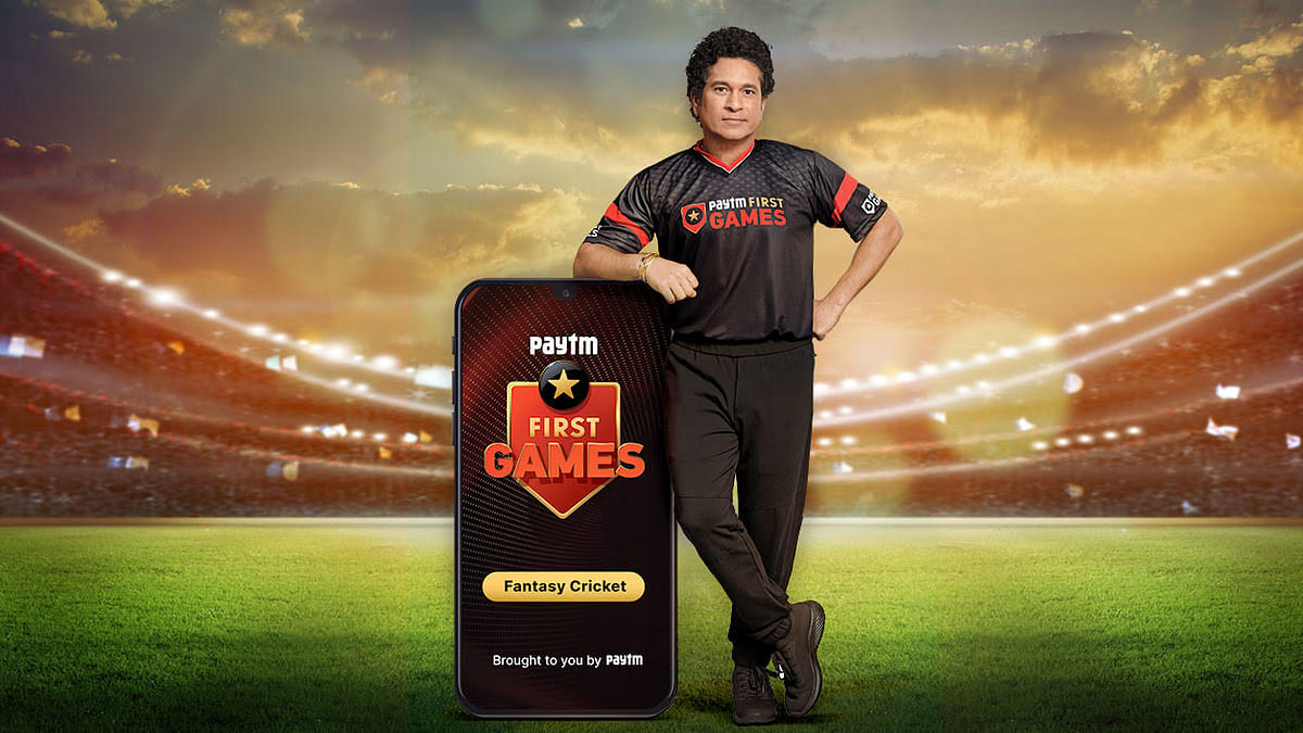 Sachin Tendulkar in Paytm First Games