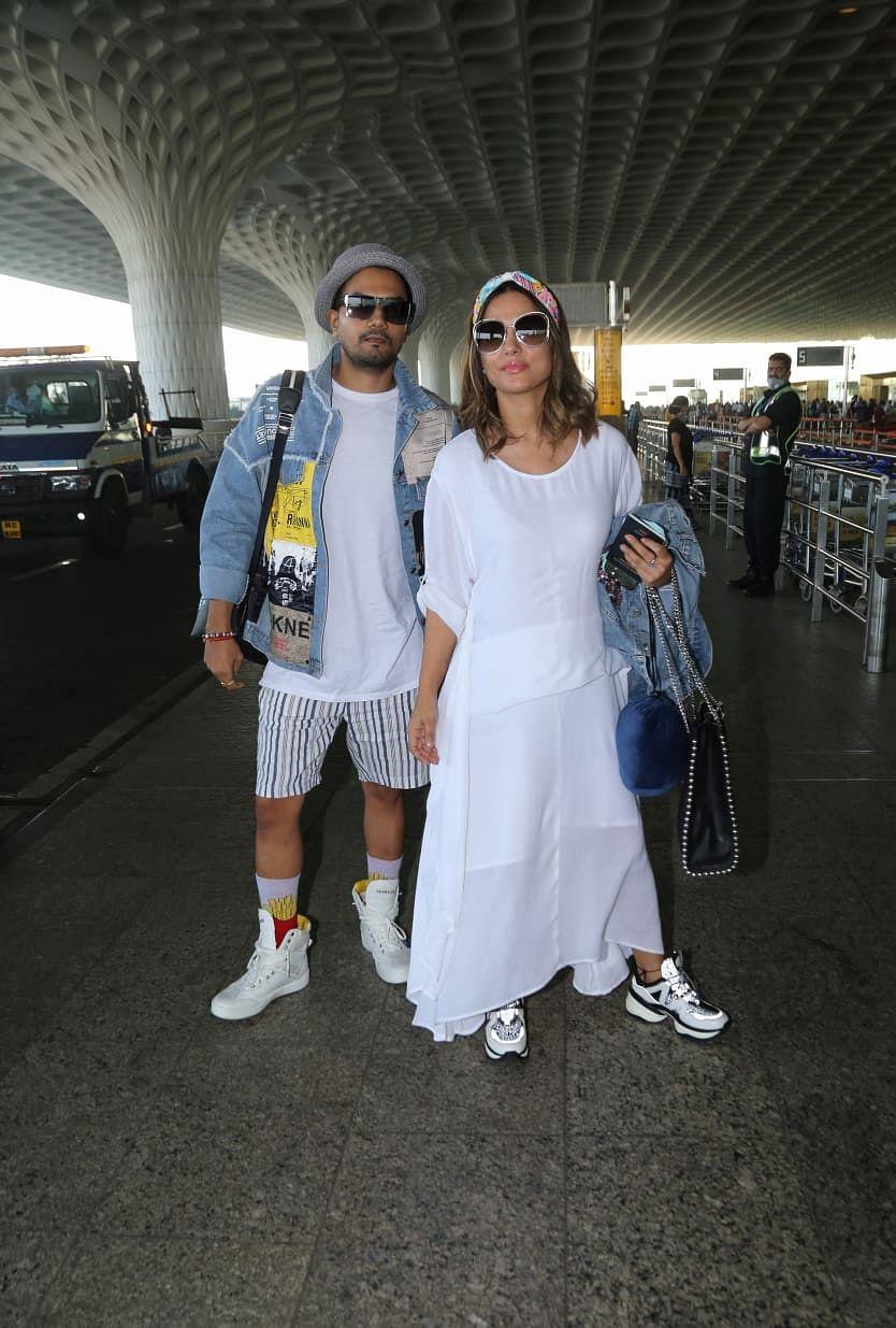 Hina Khan with boyfriend Rohit