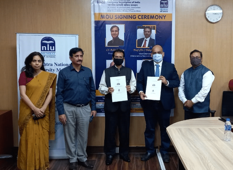 Institute of Company Secretaries of India signs MOU academic collaboration with Maharashtra National Law University Mumbai
