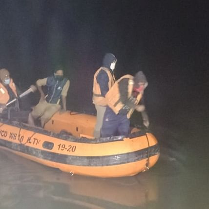 Six rescued, two missing after 9 lorries slide off cargo ship, fall into river Ganga in West Bengal's Malda