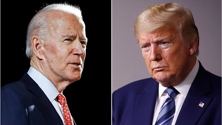 US Democratic presidential candidate Joe Biden and President Donald Trump