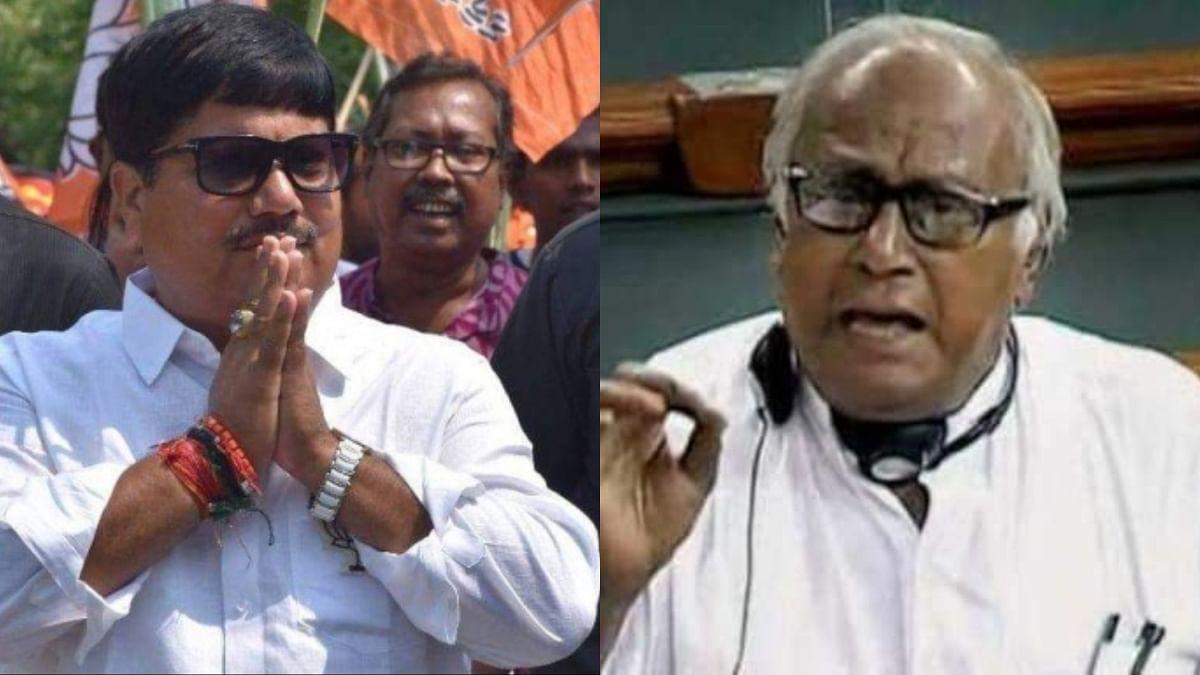 BJP leader Arjun Singh (L) and TMC's Sougata Roy (R)